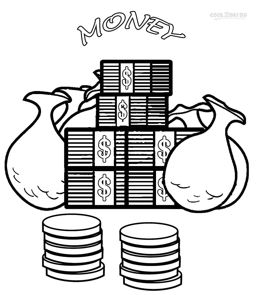 bank themed coloring pages - photo#10