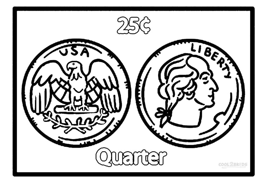 coins coloring pages - photo#16