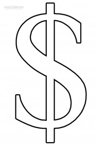 Money Sign Coloring Pages