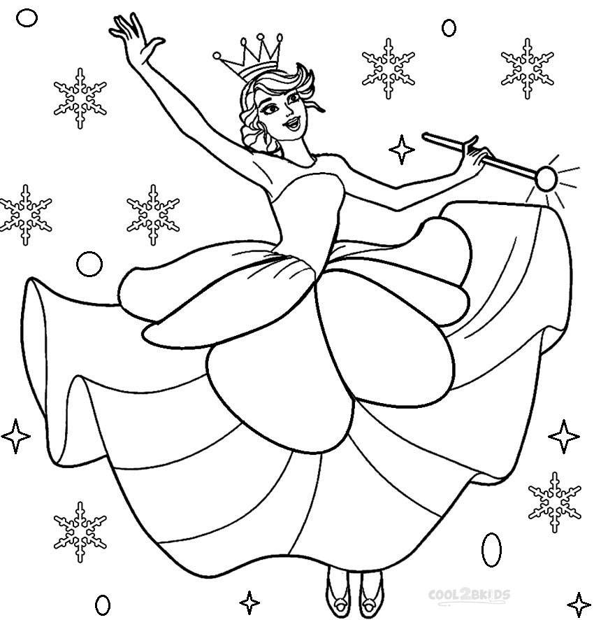 Printable nutcracker coloring pages for kids cool2bkids for Christmas fairy coloring pages