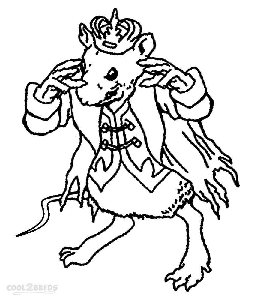 Nutcracker Mouse King Coloring Pages