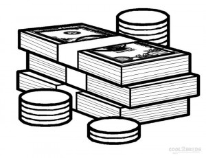 Play Money Coloring Pages