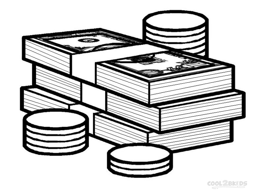 bank themed coloring pages - photo#26