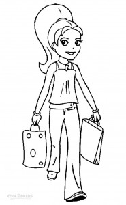 Polly Pocket Coloring Pages Printable