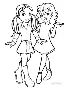 Polly Pocket Coloring Pages to Print