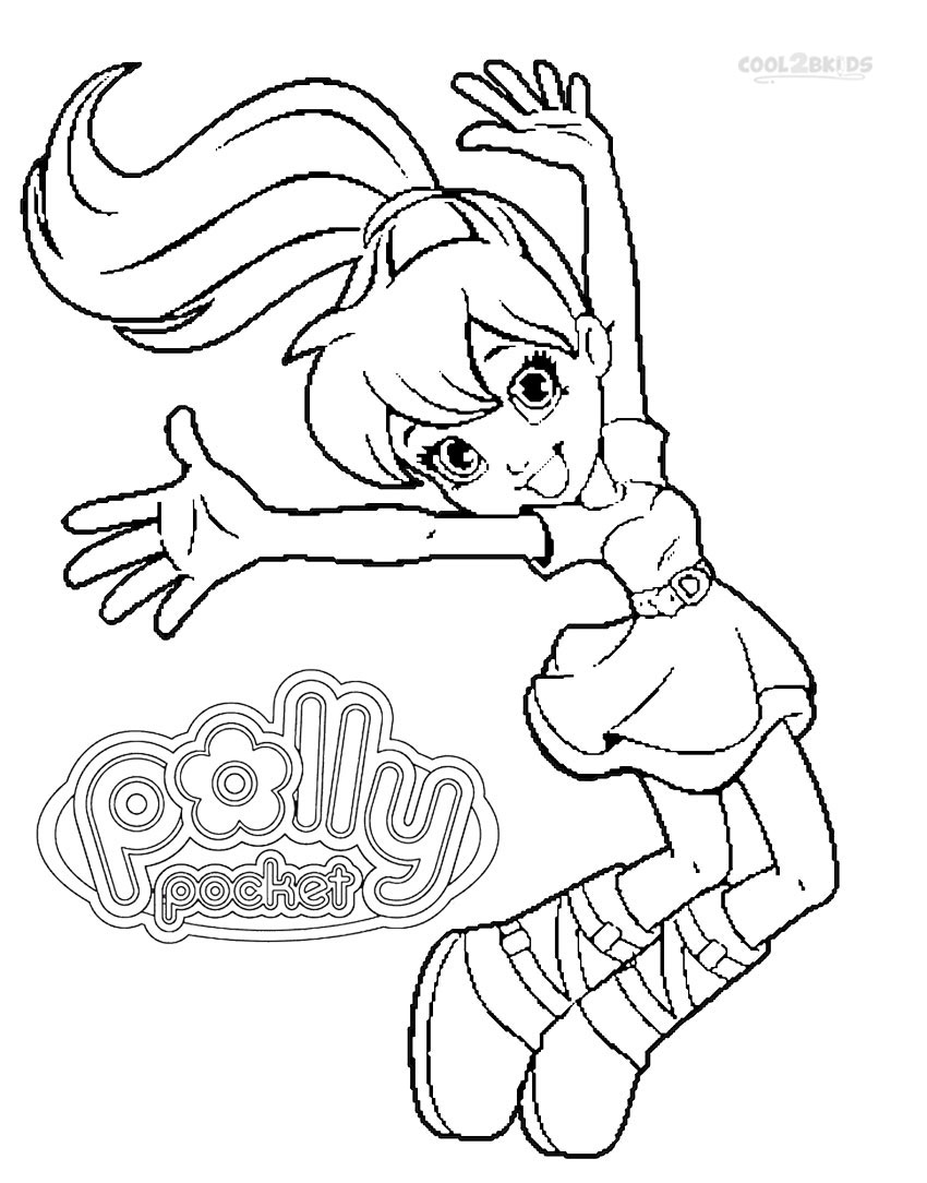 Printable Polly Pocket Coloring