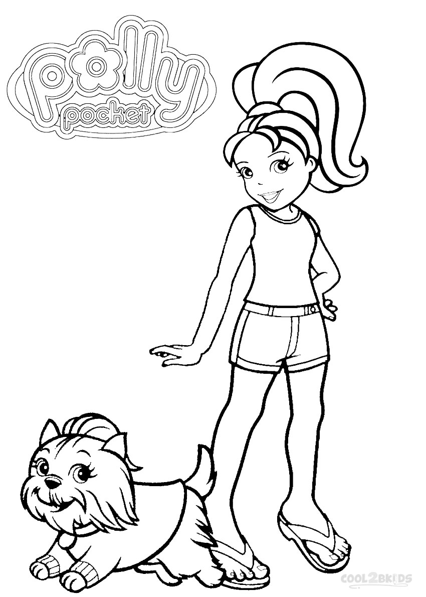 mini polly pocket coloring pages - photo#1