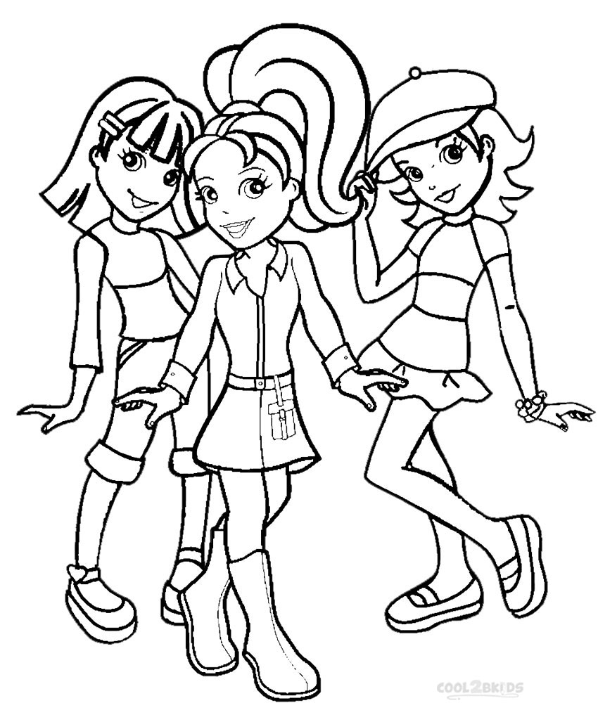 polly pocket coloring pages games - photo#27