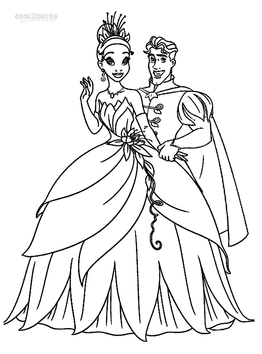 Tiana Coloring Pages Inspiration Printable Princess Tiana Coloring Pages For Kids  Cool2Bkids 2017