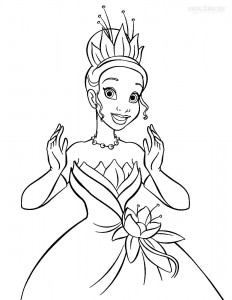 Princess Tiana Coloring Pages