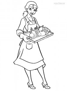 Princess Tiana Doll Coloring Pages