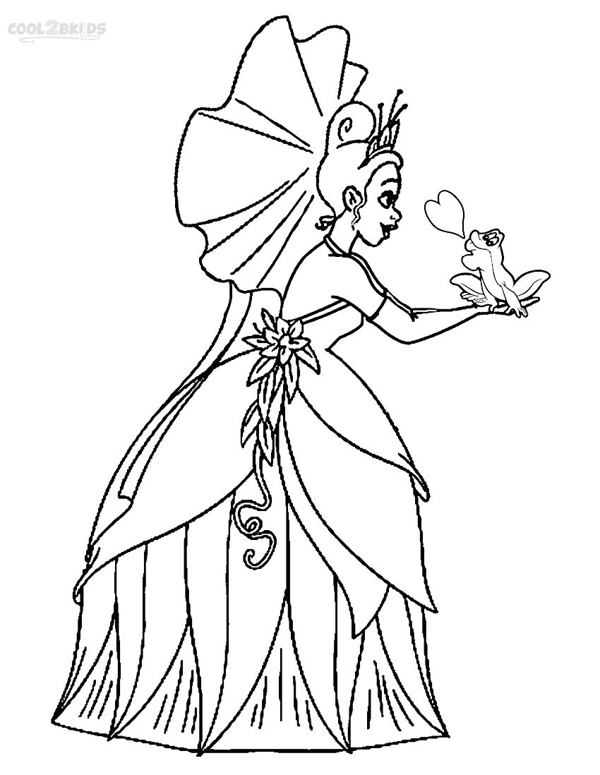 Printable Princess Tiana Coloring Pages For Kids Cool2bkids Princess And The Frog Coloring Books