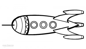 Printable Rocket Ship Coloring Pages
