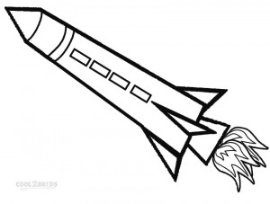 Rocket Ship Coloring Pages for Kids