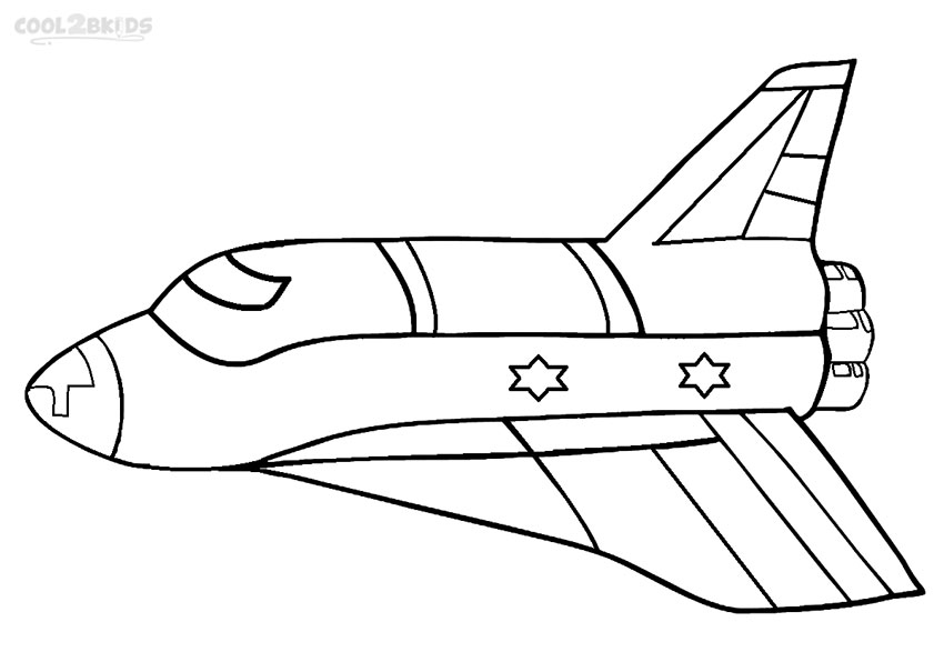Elegant Rocket Ship Coloring Pages To Print