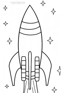 Printable Rocket Ship Coloring