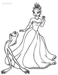 Tiana Princess and the Frog Coloring Pages