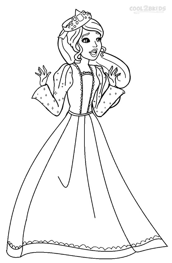 coloring pages princess barbie - photo#19