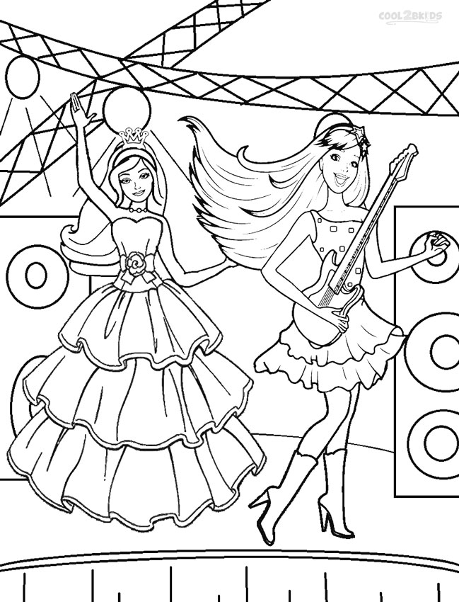 Barbie Princess Coloring Pages | Cool2bKids