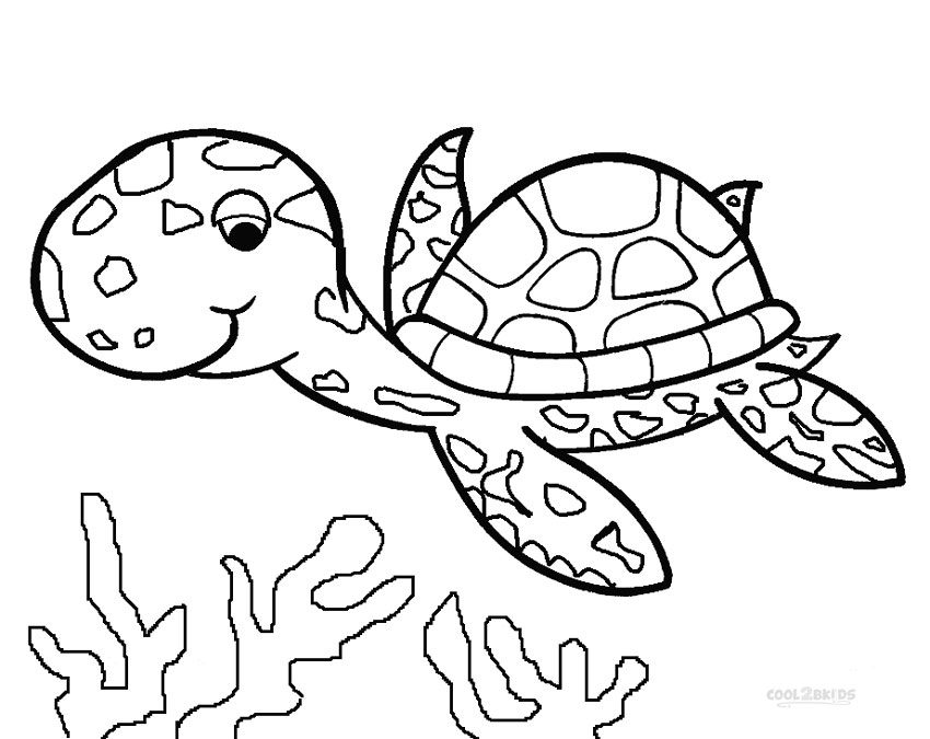 turtle coloring pages - printable sea turtle coloring pages for kids cool2bkids