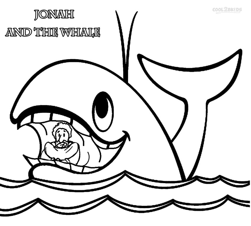 Printable Jonah and the Whale Coloring