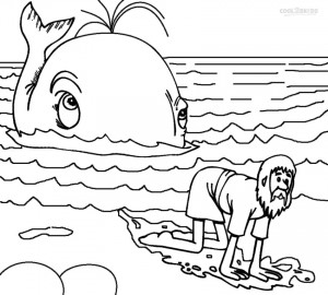Jonah and the Whale Kids Coloring Pages