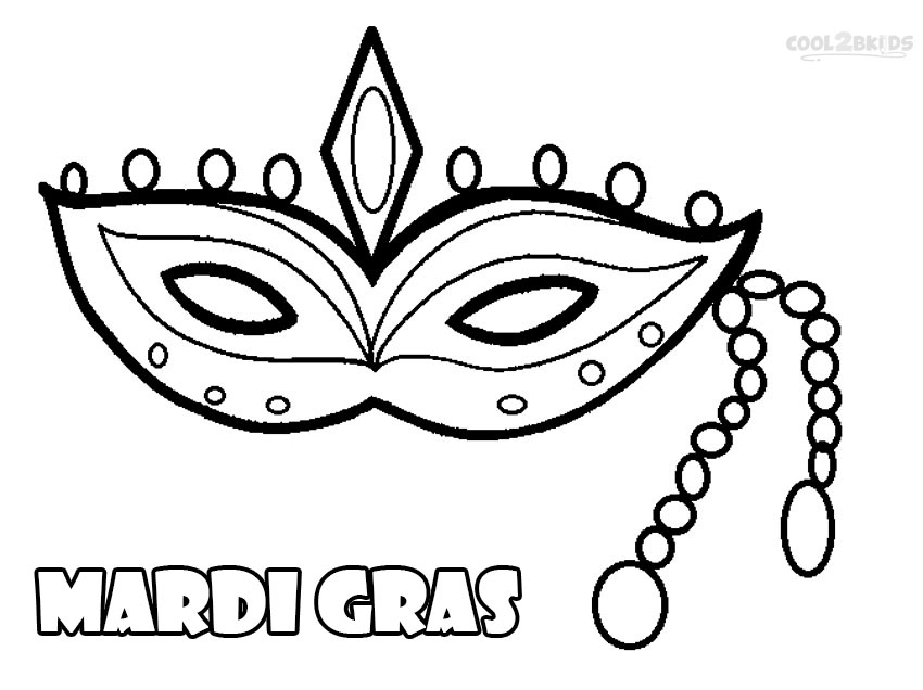 Printable Mardi Gras Coloring Pages