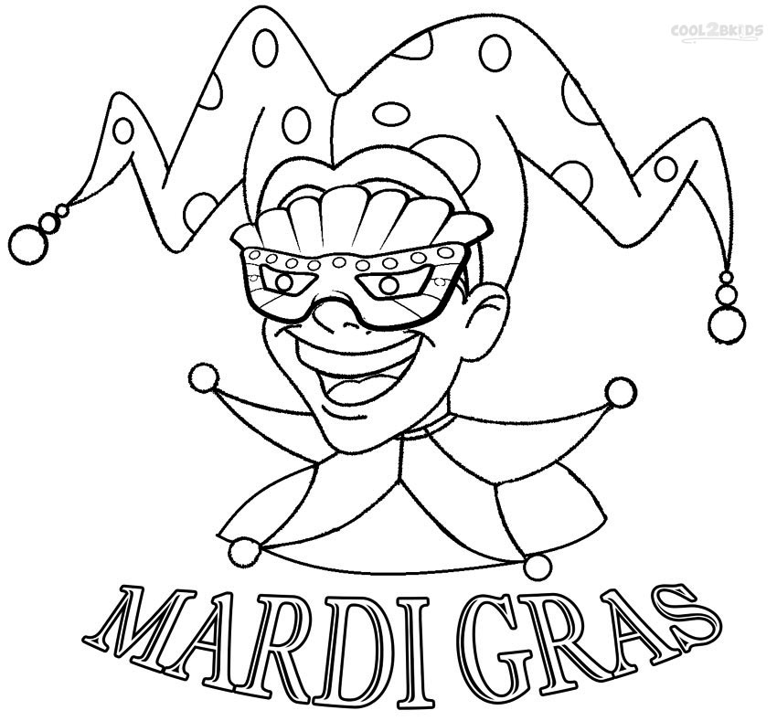 printable mardi gras coloring pages for kids  coolbkids, coloring pages