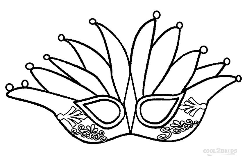 Mardi gras crown coloring pages