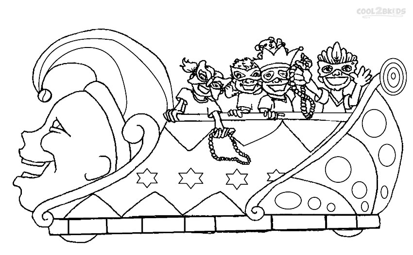 coloring pages mardi gras - photo#15