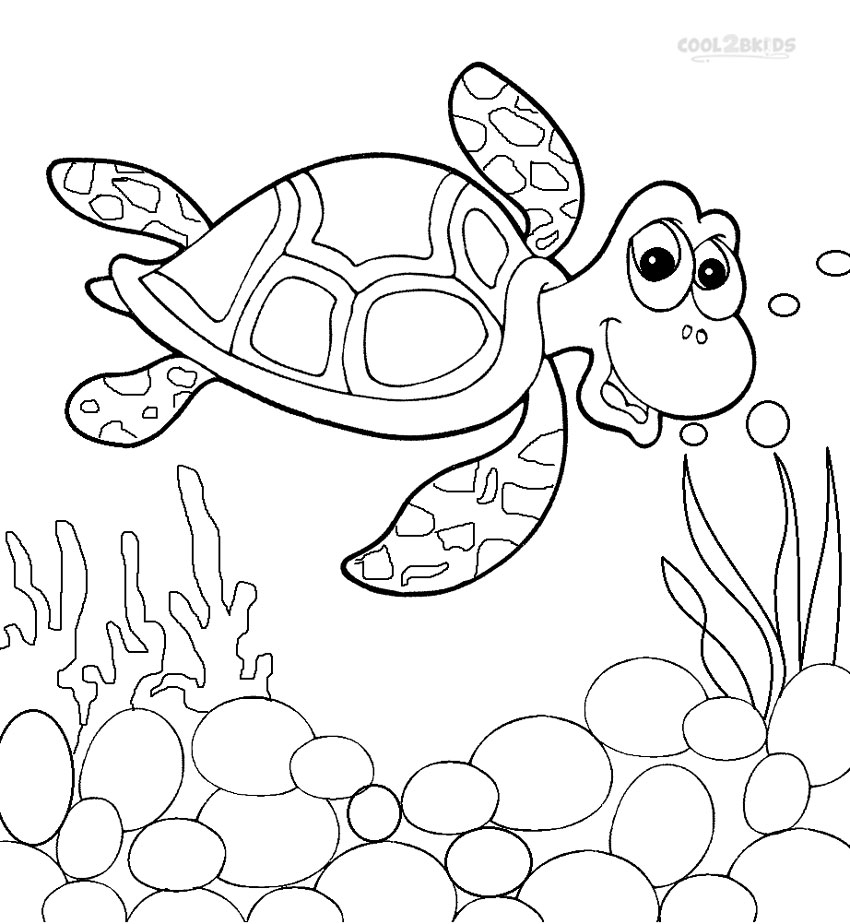 free turtle coloring pages | Printable Sea Turtle Coloring Pages For Kids | Cool2bKids
