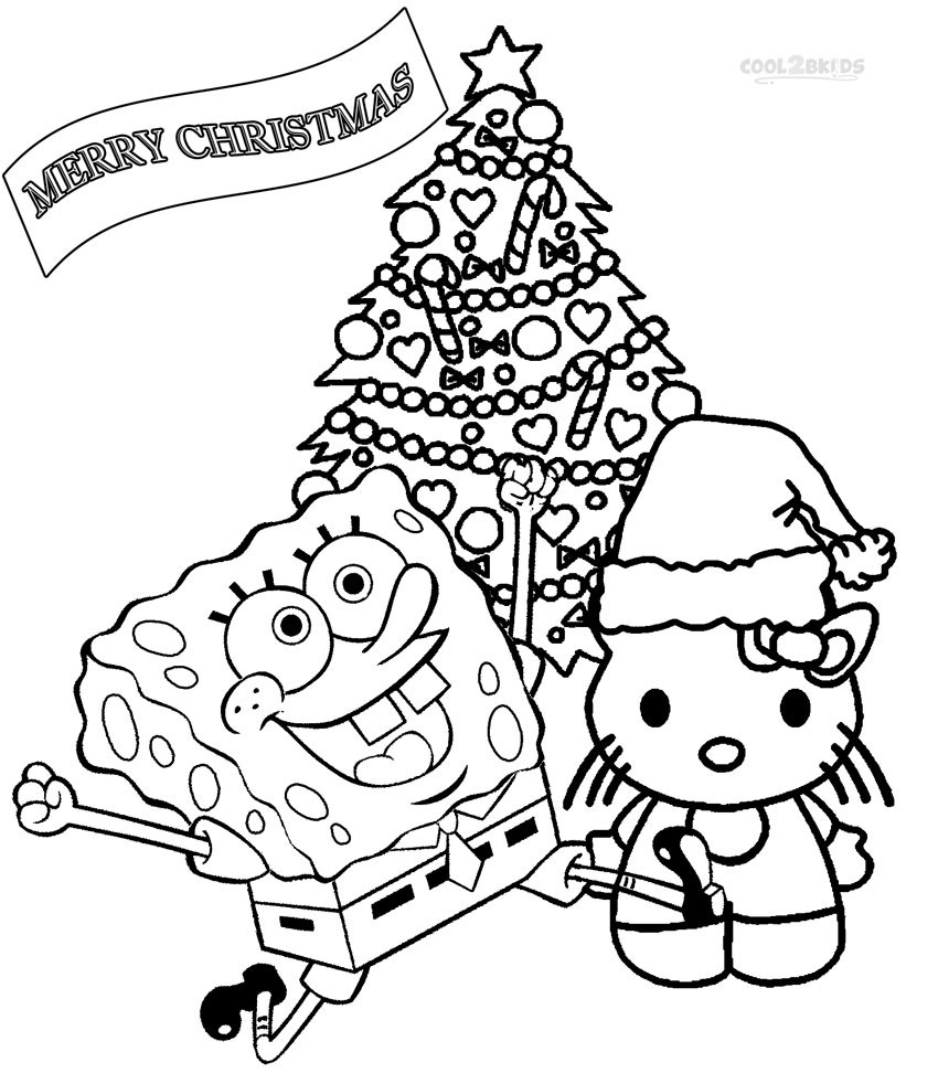 Printable nickelodeon coloring pages for kids cool2bkids for Christmas printables coloring pages