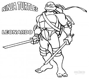 Nickelodeon Ninja Turtles Coloring Pages