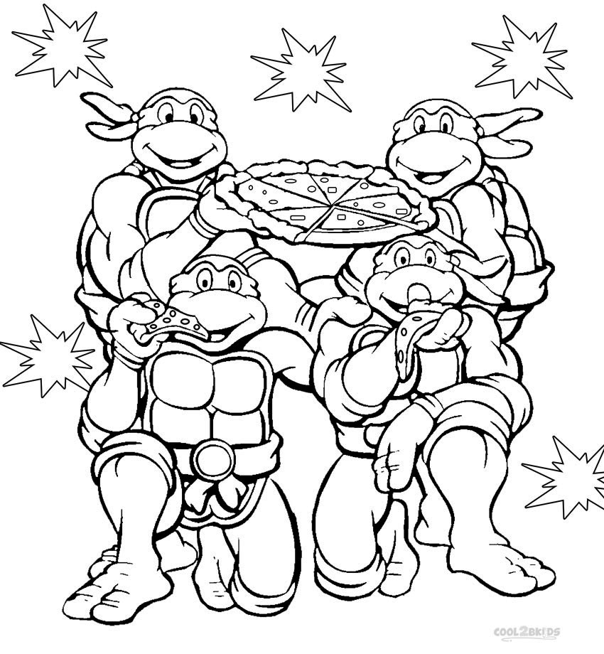 free ninja turtle coloring pages - photo#19