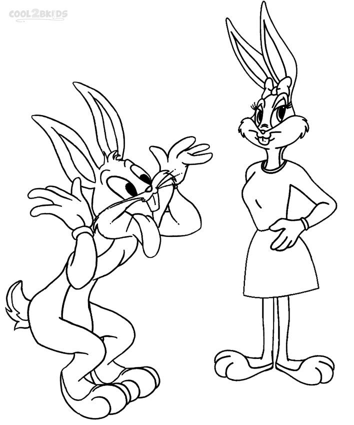 Printable Bugs Bunny Coloring Pages For Kids