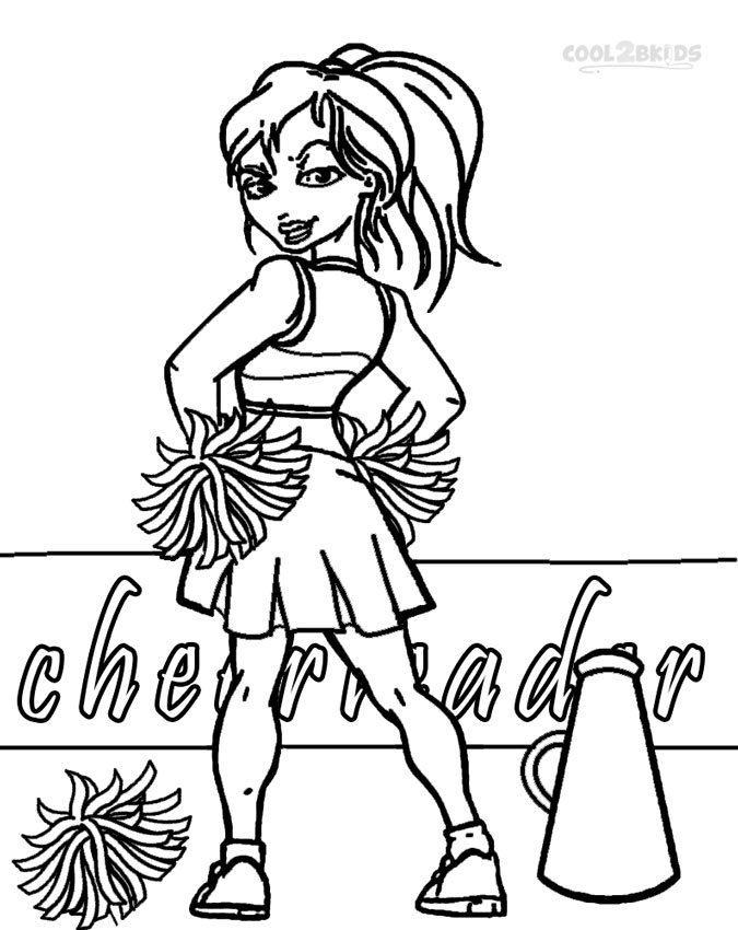 cheerleading coloring pages for grils - photo#18