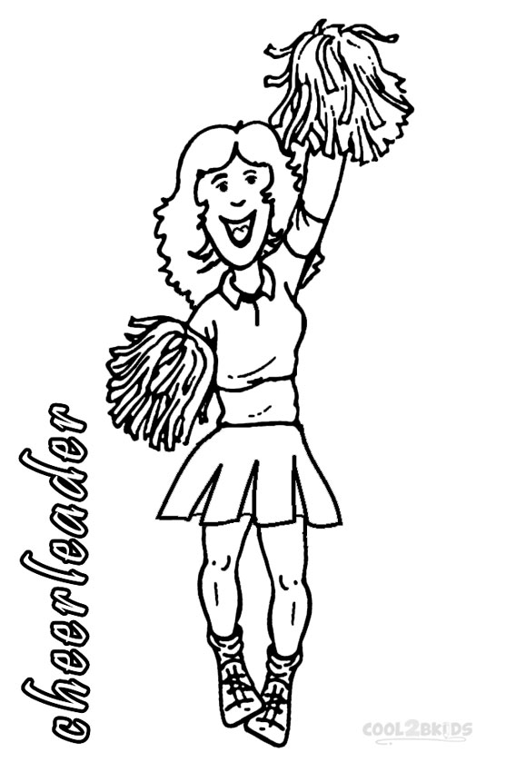 Printable Cheerleading Coloring