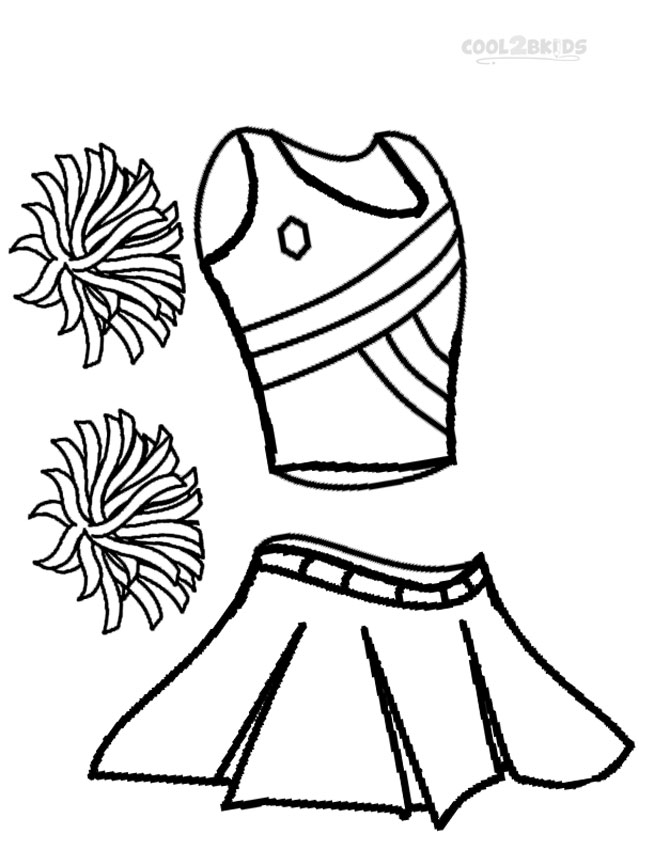 cheerleader uniform coloring pages