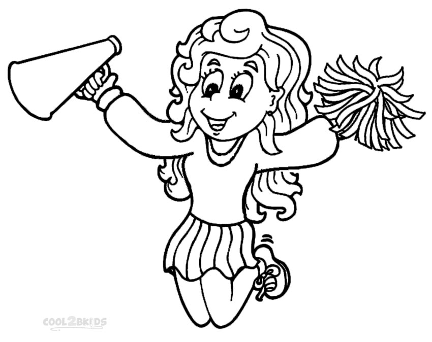 High Quality Cheerleading Coloring Pages To Print