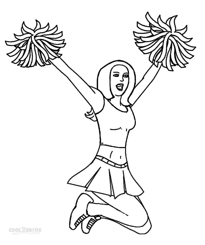 cheerleading coloring pages for grils - photo#16