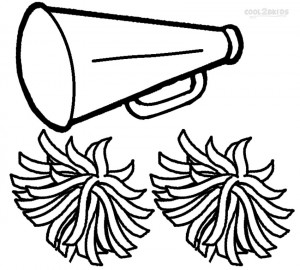 Cheerleading Megaphone Coloring Pages