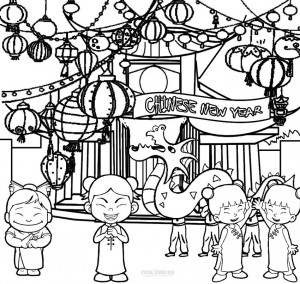 Chinese New Year Coloring Pages Cool2bkids