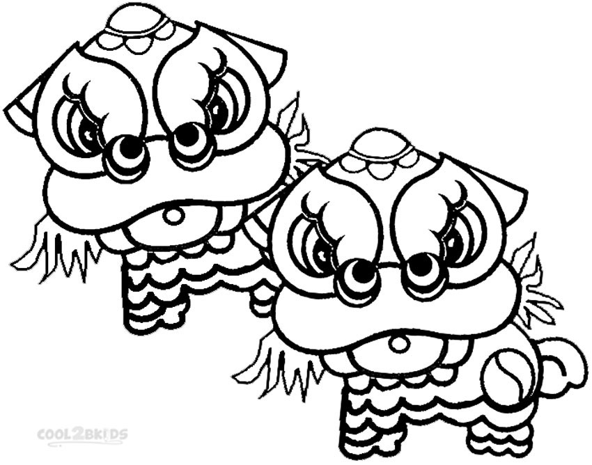 chinese new year coloring pages for preschool - Chinese New Year Coloring Pages