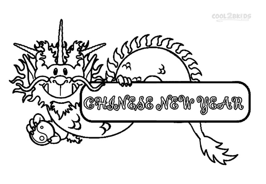 chinese new year dragon coloring pages - Chinese New Year Coloring Pages