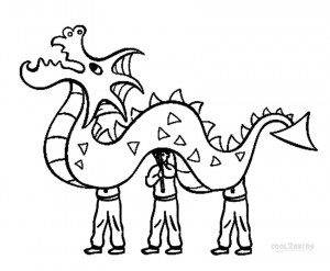 Chinese New Year Dragon Dance Coloring Pages