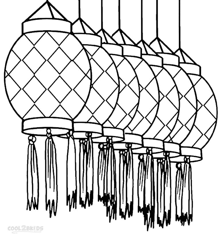 chinese lantern template printables - chinese paper lantern coloring page coloring page