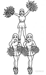 Coloring Pages of Cheerleaders