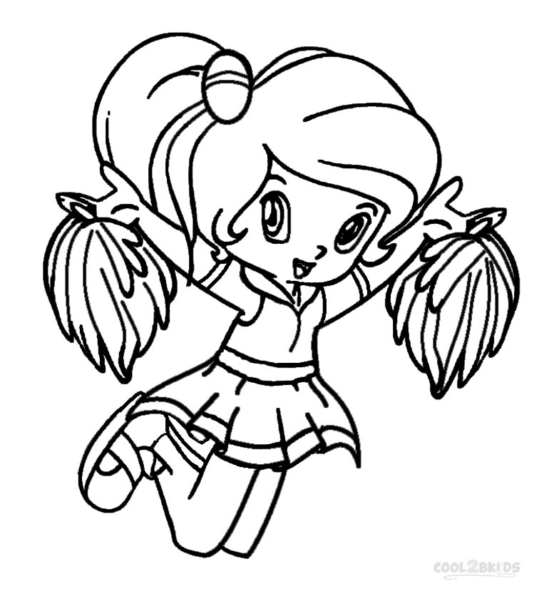 cheerleaded coloring pages - photo#4