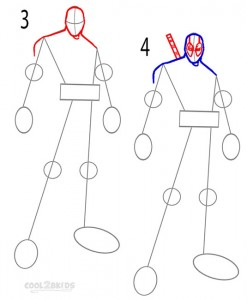 How to Draw Deadpool Step 2