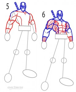 How to Draw Deadpool Step 3